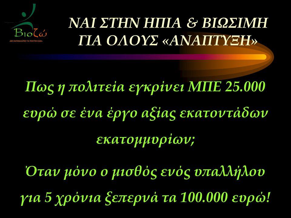 Όταν μόνο ο μισθός ενός υπαλλήλου για 5 χρόνια ξεπερνά τα 100.000 ευρώ.