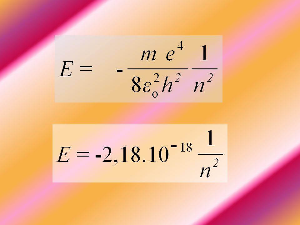α ο είναι μια νέα φυσική σταθερά που ονομάζεται ακτίνα Bohr και ισούται με: α ο = 0,53 Å.