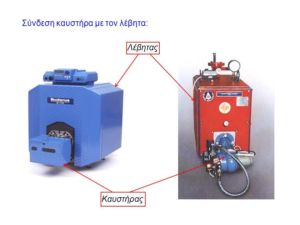 Σύνδεση καυστήρα με τον λέβητα: Καυστήρας Λέβητας