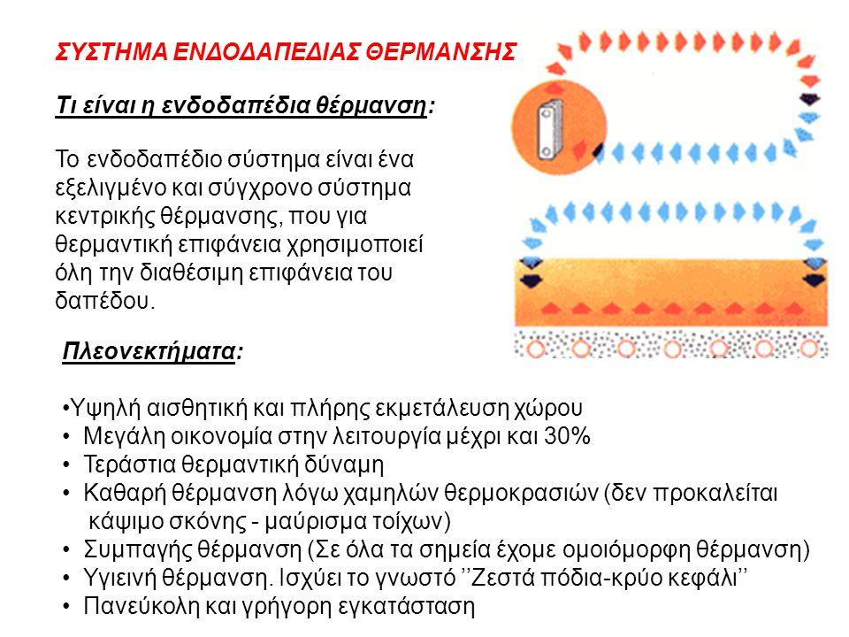 Τι είναι η ενδοδαπέδια θέρμανση: Το ενδοδαπέδιο σύστημα είναι ένα εξελιγμένο και σύγχρονο σύστημα κεντρικής θέρμανσης, που για θερμαντική επιφάνεια χρ