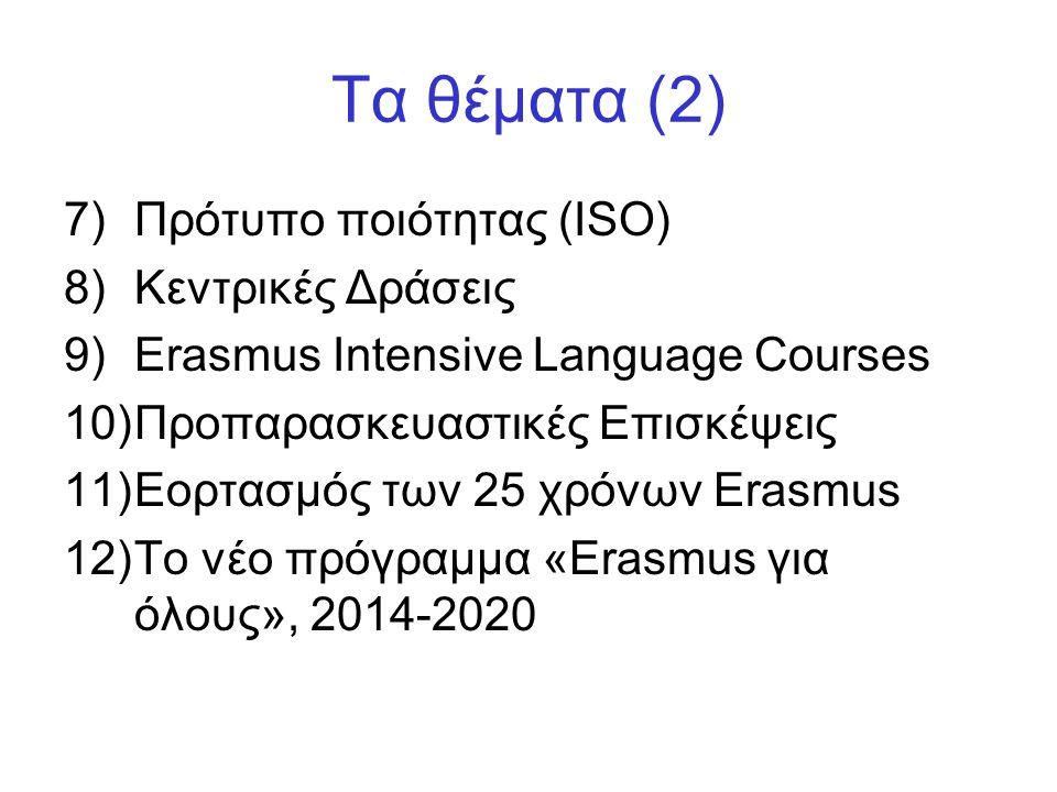 Δράσεις: •Πολυμερή Σχέδια (Multilateral Projects) •Δίκτυα Erasmus (Erasmus Networks) •Συνοδευτικά Μέτρα (Accompanying Measures)