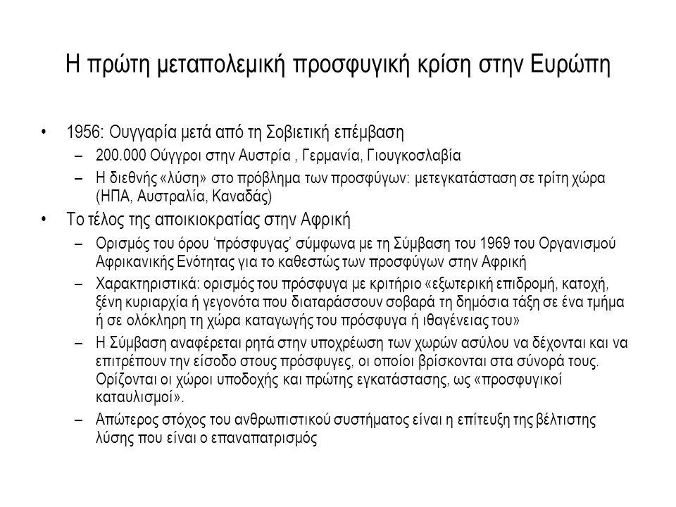Χώρες Προέλευσης των παλιννοστούντων 1995-2000 ΧΩΡΑ ΠΡΟΕΛΕΥΣΗΣΑΡΙΘΜΟΣ ΑΤΟΜΩΝ% Αζερμπαϊτζάν2040,131 ΑΡΜΕΝΙΑ8.8105,672 ΓΕΩΡΓΙΑ80.66451,922 ΕΣΘΟΝΙΑ100,006 ΚΑΖΑΚΣΤΑΝ31.27120,134 ΚΙΡΓΙΖΙΑ8440,543 ΛΕΤΟΝΙΑ320,021 ΛΕΥΚΟΡΩΣΙΑ500,032 ΛΙΘΟΥΑΝΙΑ50,003 ΜΟΛΔΑΒΙΑ1820,117 ΟΣΕΤΙΑ 140,009 ΟΥΚΡΑΝΙΑ4.6603,000 ΟΥΖΜΠΕΚΙΣΤΑΝ3.4422,216 ΡΩΣΙΑ24.04215,479 ΤΑΤΖΙΚΙΣΤΑΝ600,039 ΤΟΥΡΚΜΕΝΙΣΤΑΝ790,051 Δ/Α9700,625 ΣΥΝΟΛΟ155.319100,000