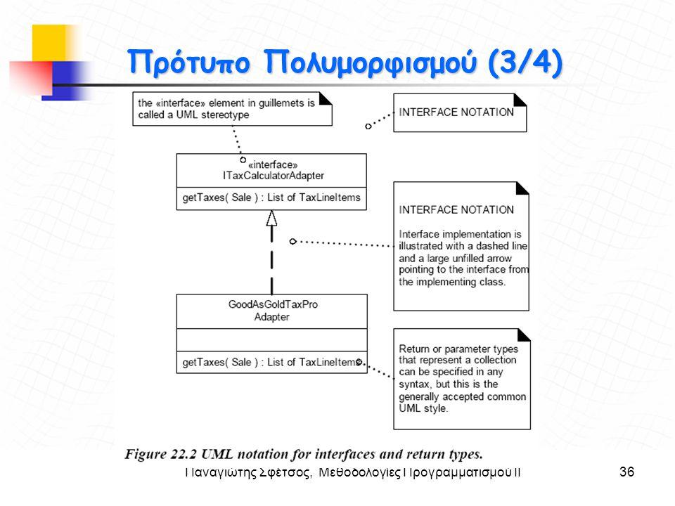 Παναγιώτης Σφέτσος, Μεθοδολογίες Προγραμματισμού ΙΙ36 Στόχοι Πρότυπο Πολυμορφισμού (3/4)