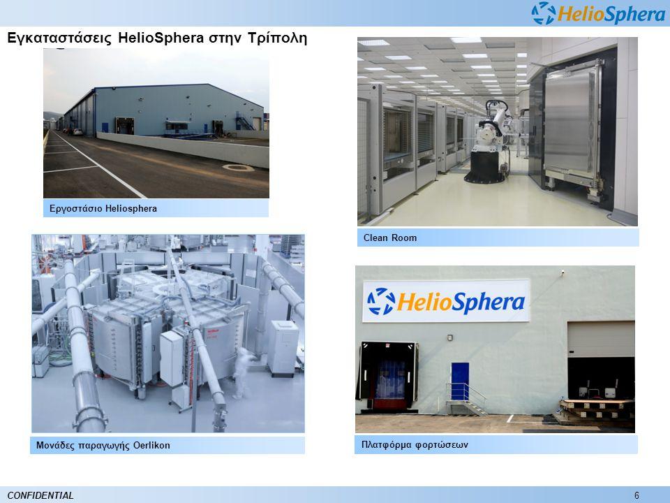 6CONFIDENTIAL Εγκαταστάσεις HelioSphera στην Τρίπολη Μονάδες παραγωγής Oerlikon Πλατφόρμα φορτώσεων Clean Room Εργοστάσιο Heliosphera