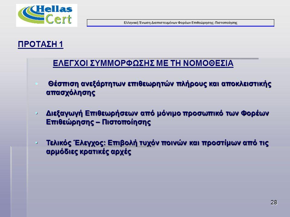 Ελληνική Ένωση Διαπιστευμένων Φορέων Επιθεώρησης- Πιστοποίησης ΣΥΝΕΡΓΑΣΙΑ ΦΟΡΕΩΝ ΠΙΣΤΟΠΟΙΗΣΗΣ ΜΕ ΟΠΕΓΕΠ ΚΑΙ ΥΠΟΥΡΓΕΙΟ ΑΓΡΟΤΙΚΗΣ ΑΝΑΠΤΥΞΗΣ ΚΑΙ ΤΡΟΦΙΜΩΝ 1.