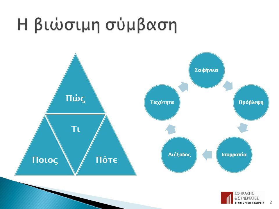 Αξιοποίηση της εμπειρίας των συμβούλων: •Τεχνικός σύμβουλος •Οικονομικός σύμβουλος •Δικηγόρος Το πλεονέκτημα FIDIC: Αξιοποίηση της συλλογικής γνώσης δεκαετιών χιλιάδων επαγγελματιών σε όλο τον κόσμο 3