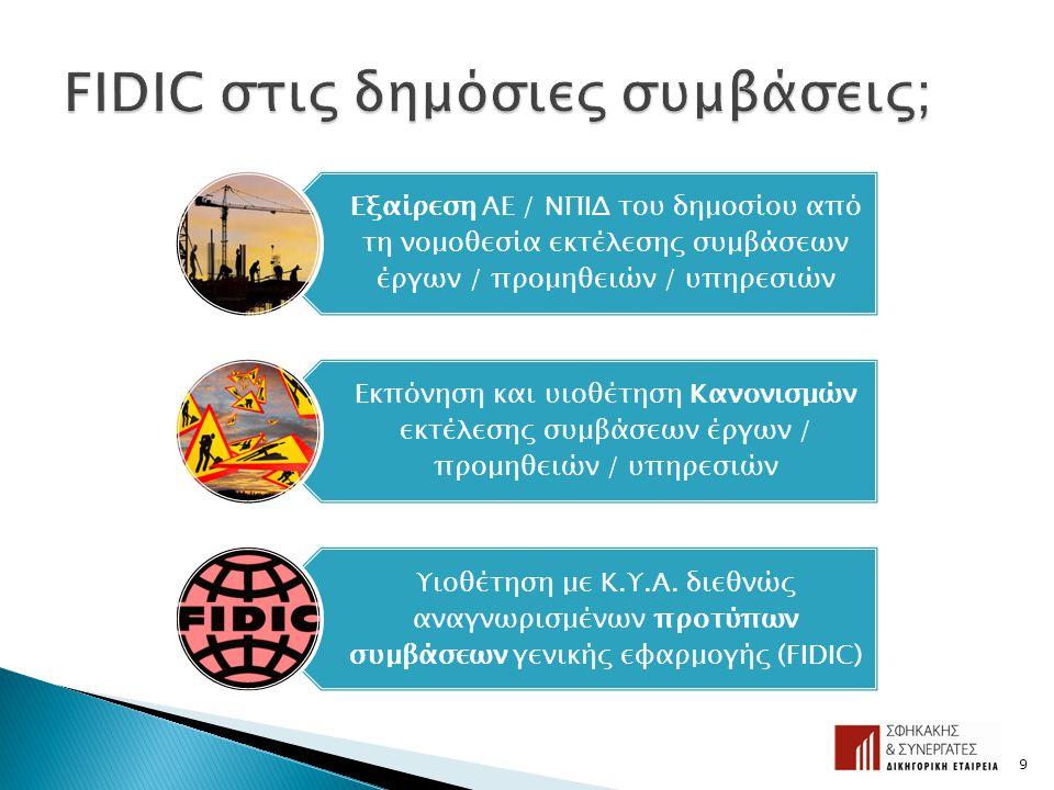 9 Εξαίρεση ΑΕ / ΝΠΙΔ του δημοσίου από τη νομοθεσία εκτέλεσης συμβάσεων έργων / προμηθειών / υπηρεσιών Εκπόνηση και υιοθέτηση Κανονισμών εκτέλεσης συμβ