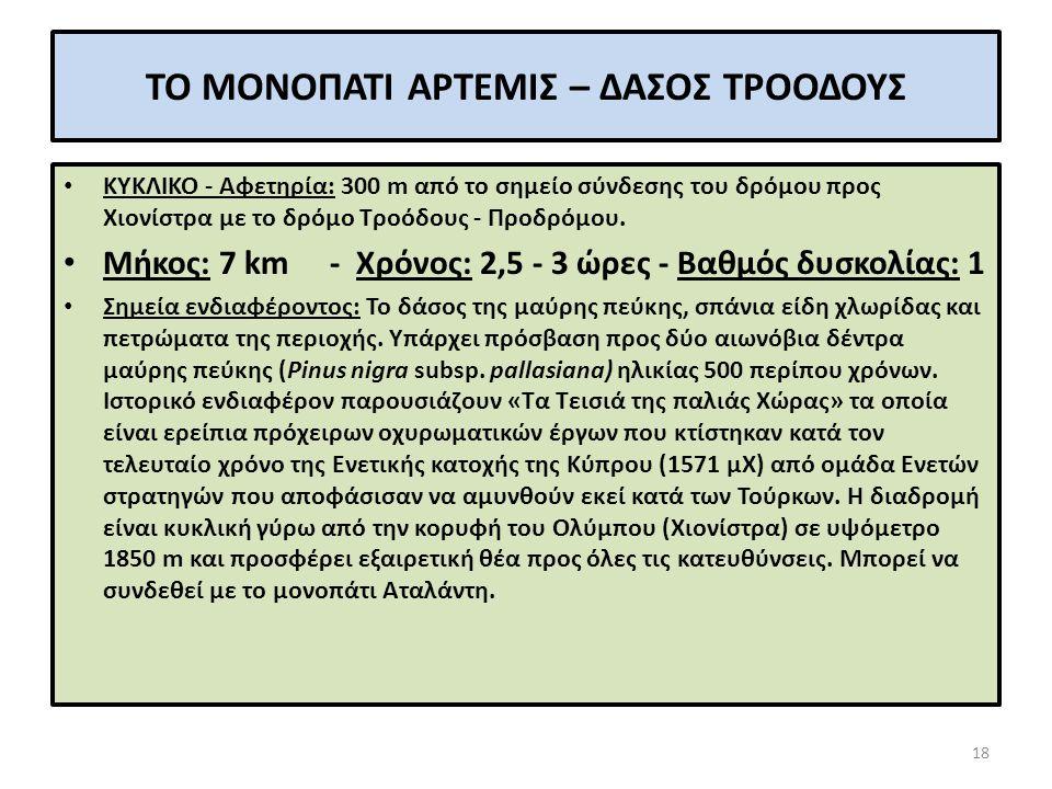 ΤΟ ΜΟΝΟΠΑΤΙ ΑΡΤΕΜΙΣ 19