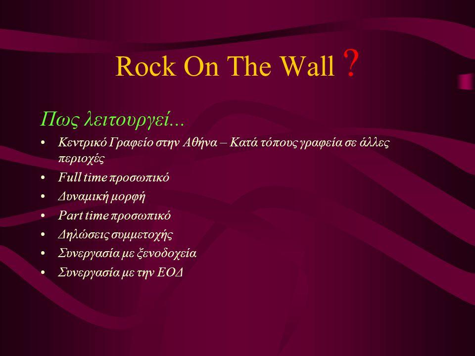 Rock On The Wall .Τι διαθέτει...