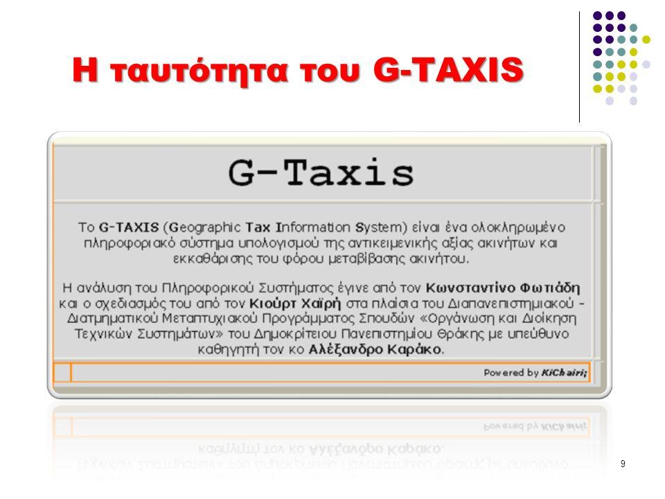 Η ταυτότητα του G-TAXIS 9