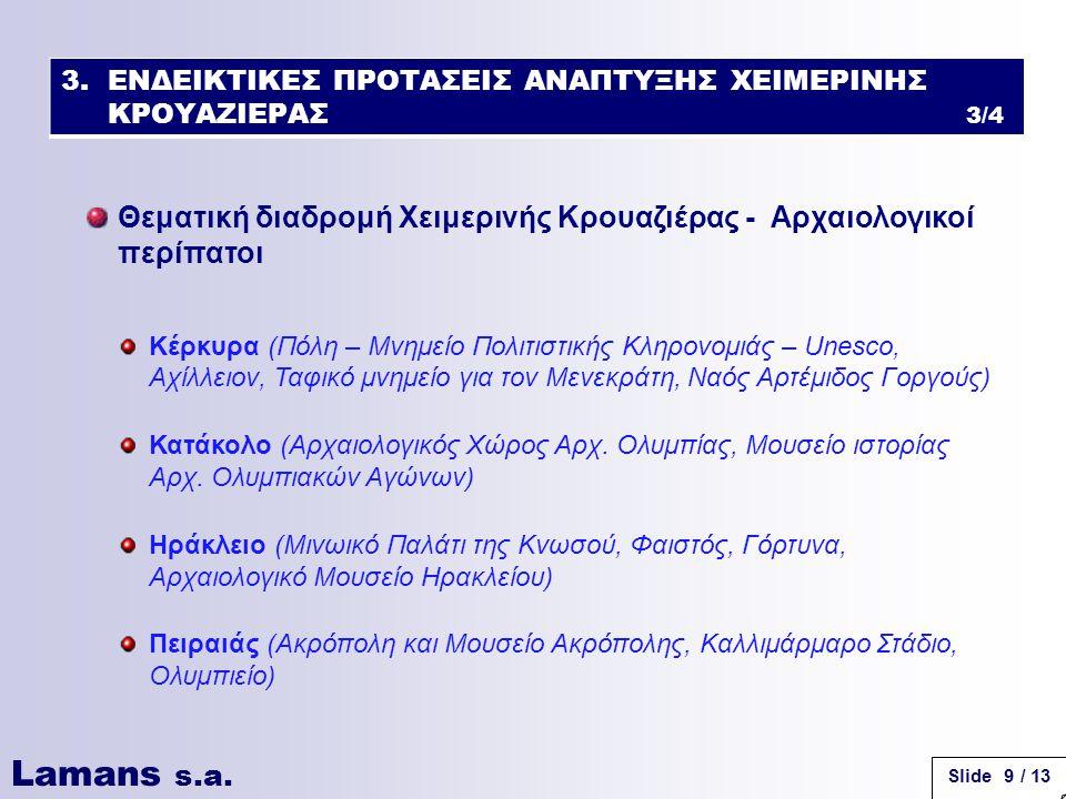 Lamans s.a. Slide 10 / 13 Κέρκυρα Κατάκολο Ηράκλειο Πειραιάς