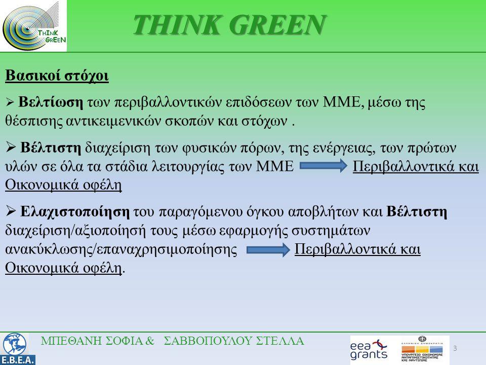 3 Βασικοί στόχοι  Βελτίωση των περιβαλλοντικών επιδόσεων των ΜΜΕ, μέσω της θέσπισης αντικειμενικών σκοπών και στόχων.  Βέλτιστη διαχείριση των φυσικ