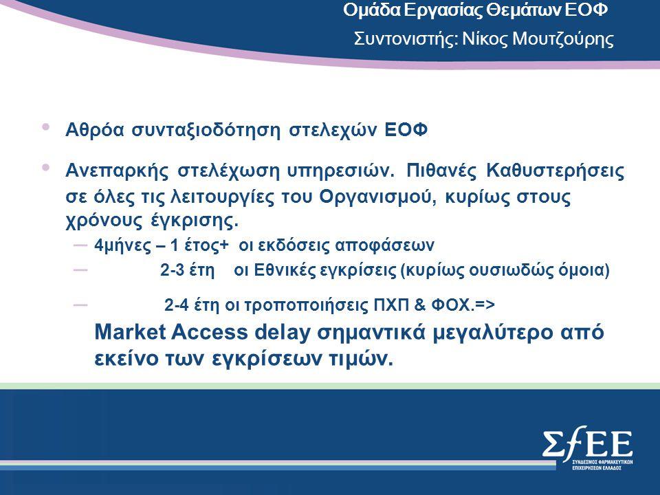 •ΒΙΟ-ΟΜΟΕΙΔΗ/ΒΙΟ-ΠΑΡΕΜΦΕΡΗ (BIOSIMILARS): ΘΕΣΗ ΣΦΕΕ/EFPIA: Όχι ίδια με τα πρωτότυπα => όχι υποκατάσταση των πρωτοτύπων.