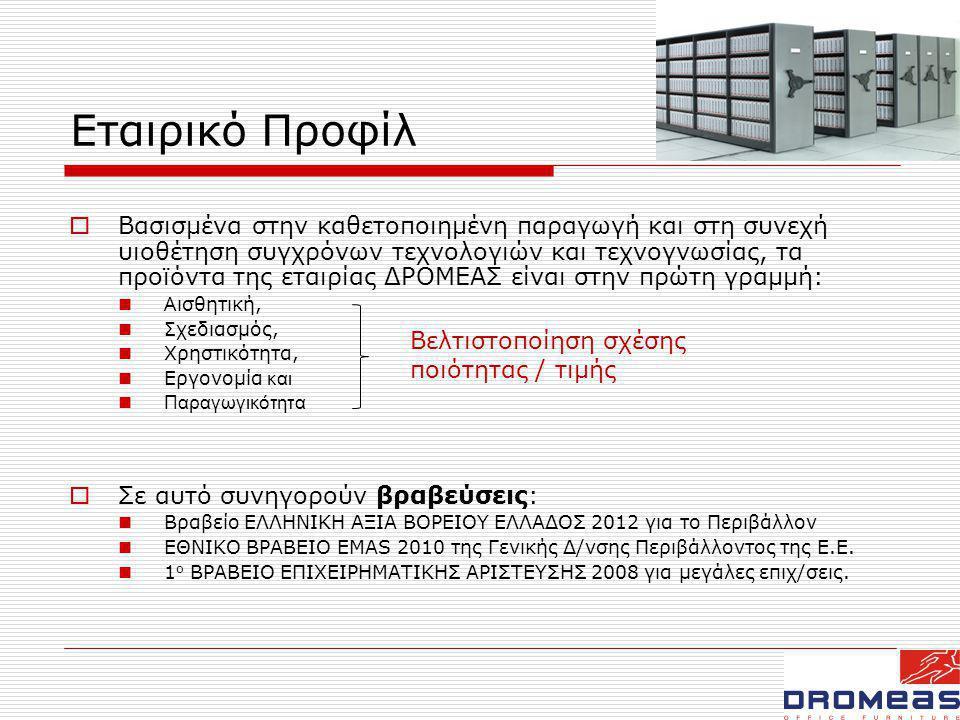 Εταιρικό Προφίλ  ενδεικτικά έργα και πελάτες:  Αποκλειστικός προμηθευτής επίπλων όλων των υπηρεσιών της Ε.Ε.