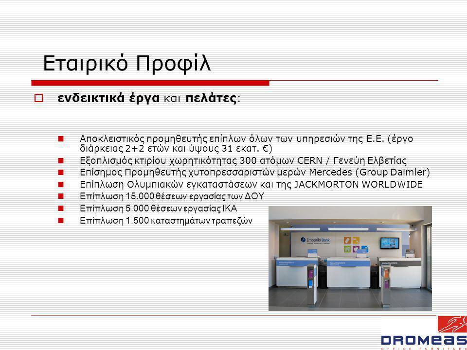 Στρατηγική Καινοτομίας  Βασικά στοιχεία:  Μόνιμη συνεργασία με φορείς έρευνας και ανάπτυξης  Συνεχείς παραγωγικές επενδύσεις σε τεχνολογία αιχμής  Αξιολόγηση κάθε επένδυσης, όχι αυτοτελώς, αλλά σε σχέση με το υφιστάμενο παραγωγικό πλαίσιο της εταιρίας.