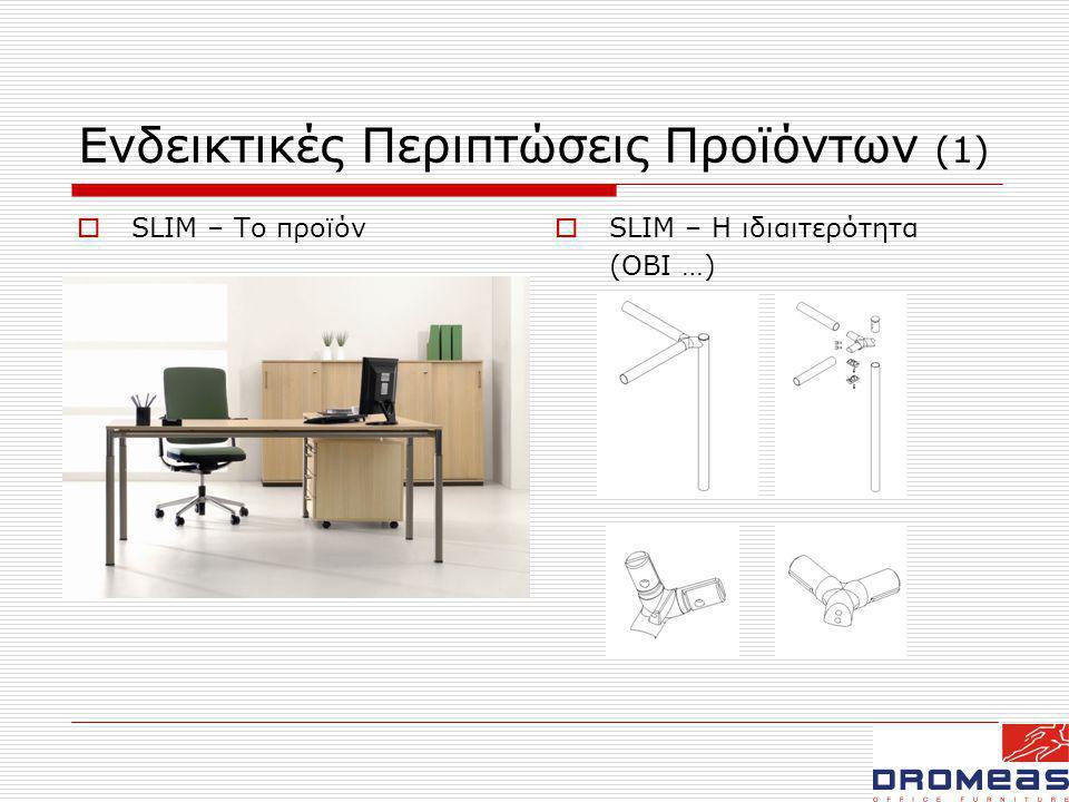Ενδεικτικές Περιπτώσεις Προϊόντων (1)  SLIM – Το προϊόν  SLIM – Η ιδιαιτερότητα (ΟΒΙ …)