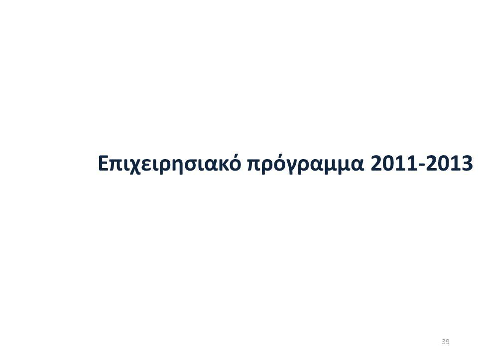 Επιχειρησιακό πρόγραμμα 2011-2013 39