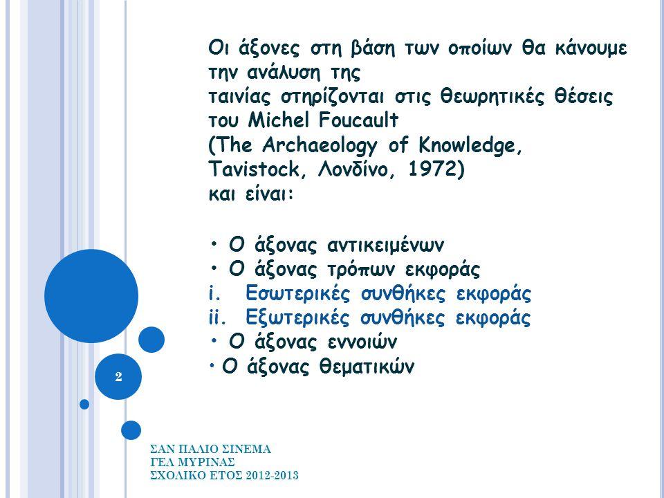 Ο ΑΞΟΝΑΣ ΑΝΤΙΚΕΙΜΕΝΩΝ Ο ΑΞΟΝΑΣ ΑΝΤΙΚΕΙΜΕΝΩΝ Μ ΙΑ ΣΕΙΡΑ ΑΠΟ ΑΝΤΙΚΕΙΜΕΝΑ ΑΝΑΠΑΡΙΣΤΟΥΝ ΤΗΝ ΠΕΡΙΟΔΟ ( ΤΕΛΗ ΔΕΚΑΕΤΙΑΣ '50) ΣΥΜΠΛΕΚΟΝΤΑΣ ΠΡΑΓΜΑΤΟΛΟΓΙΚΑ ΣΤΟΙΧΕΙΑ ΣΤΗΝ ΠΡΟΣΠΑΘΕΙΑ ΝΑ ΑΝΤΙΚΕΙΜΕΝΟΠΟΙΗΣΕΙ ΠΕΡΙΣΣΟΤΕΡΟ ΤΗΝ ΕΠΟΧΗ.