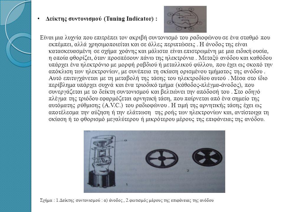 • •Αμοιβαία αγωγιμότητα : Την αγωγιμότητα της λυχνίας τη χαρακτηρίζει το κατά πόσο το οδηγό πλέγμα επιδρά στη ροή των ηλεκτρονίων, όταν η τάση του μετ