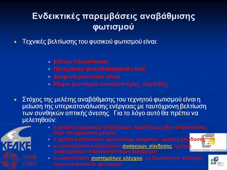 Ενδεικτικές παρεμβάσεις αναβάθμισης των Η/Μ εγκαταστάσεων • • Αναβάθμιση του συστήματος κεντρικής θέρμανσης.