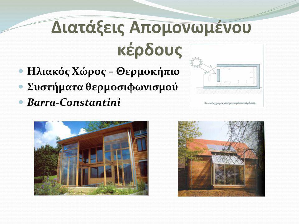 Παθητικά συστήματα και τεχνικές φυσικού δροσισμού  Ηλιοπροστασία (σκιασμός του κτηρίου και των ανοιγμάτων)  Χρώμα και υφή των εξωτερικών επιφανειών  Επάρκεια θερμικής μάζας του κτηρίου