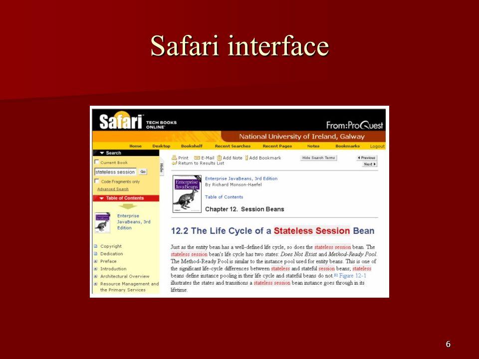 6 Safari interface