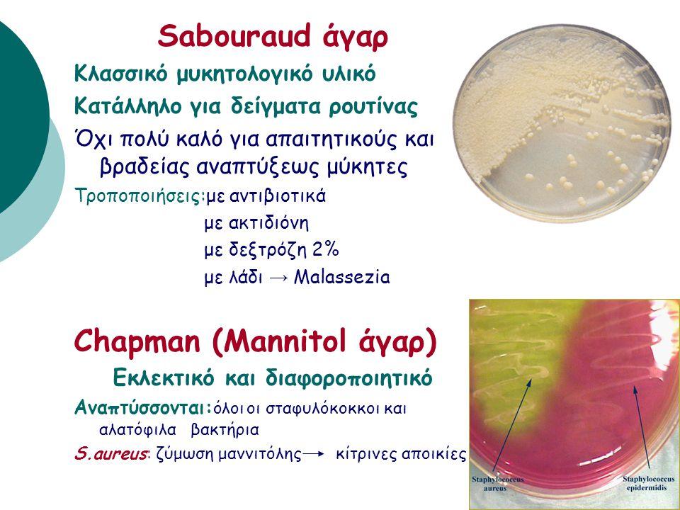 E.coli MacConkey Chromoagar E.coli 0157:H7 • Διαφοροποιητικά υλικά. • Περιέχουν ειδικά χρωμογόνα υποστρώματα που όταν έρθουν σε επαφή με τα ένζυμα του