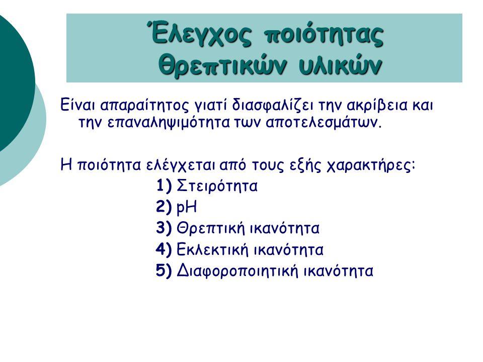  ΜΗ ΕΚΛΕΚΤΙΚΑ: Δεν περιέχουν αναστολείς. Eπιτρέπουν την ανάπτυξη των περισσοτέρων μικροοργανισμών (αιματούχο & σοκολατόχρωμο άγαρ)  ΕΚΛΕΚΤΙΚΑ: Περιέ