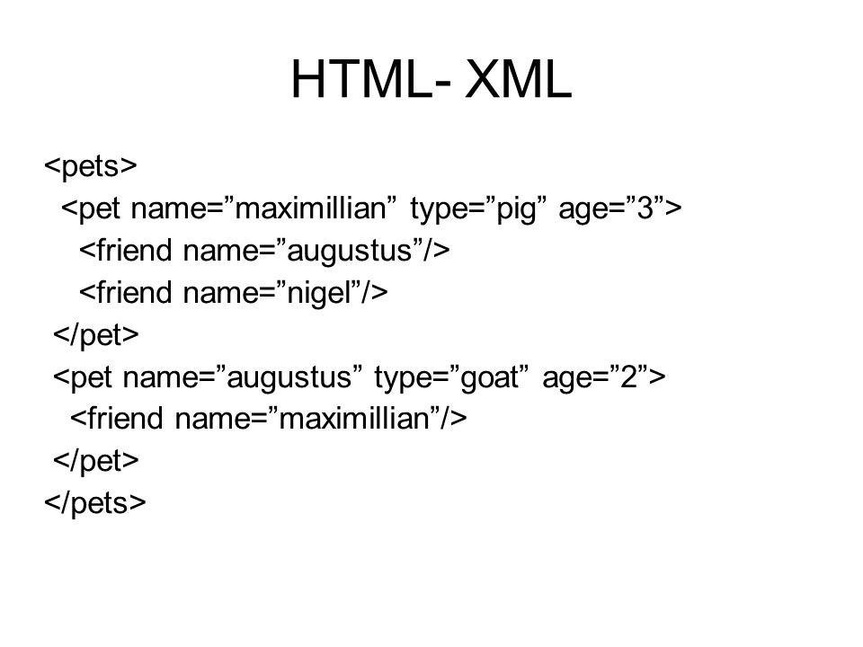 HTML- XML