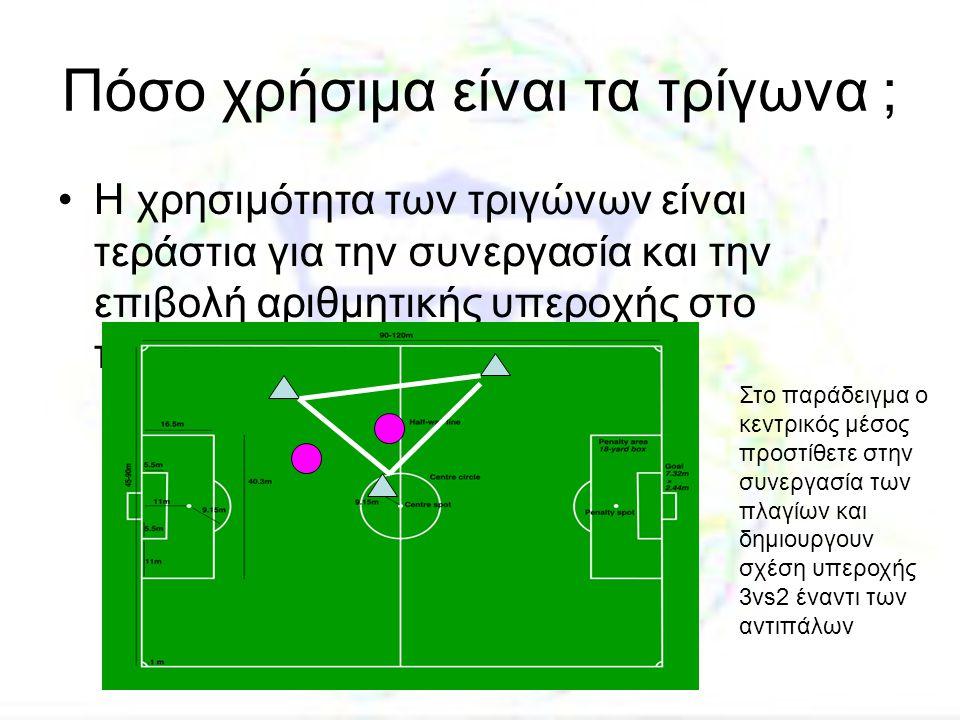 Πόσο χρήσιμα είναι τα τρίγωνα ; •Η χρησιμότητα των τριγώνων είναι τεράστια για την συνεργασία και την επιβολή αριθμητικής υπεροχής στο παιχνίδι Στο πα
