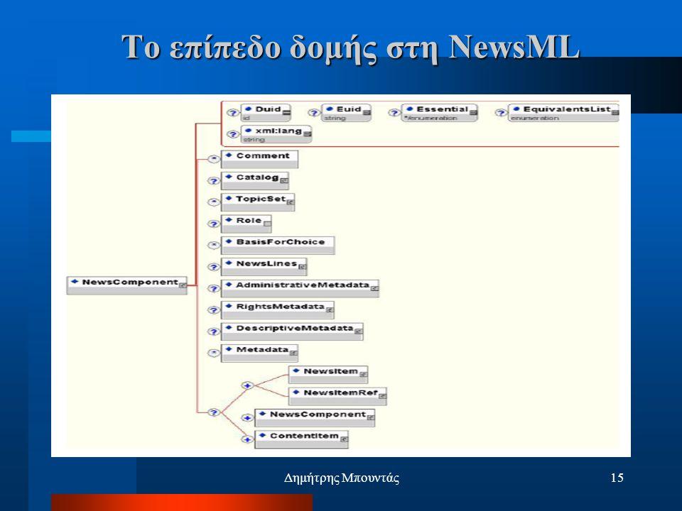 Δημήτρης Μπουντάς15 Το επίπεδο δομής στη NewsML