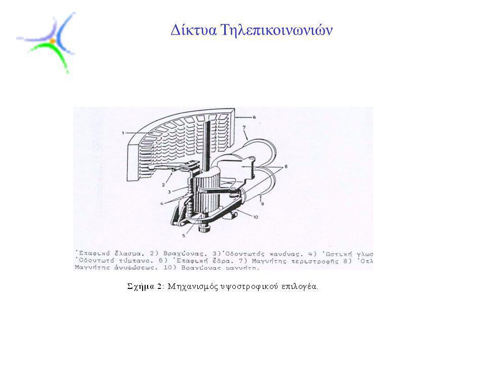 Slide 7 Δίκτυα Τηλεπικοινωνιών 1) Κινητηριακό σύστημα.