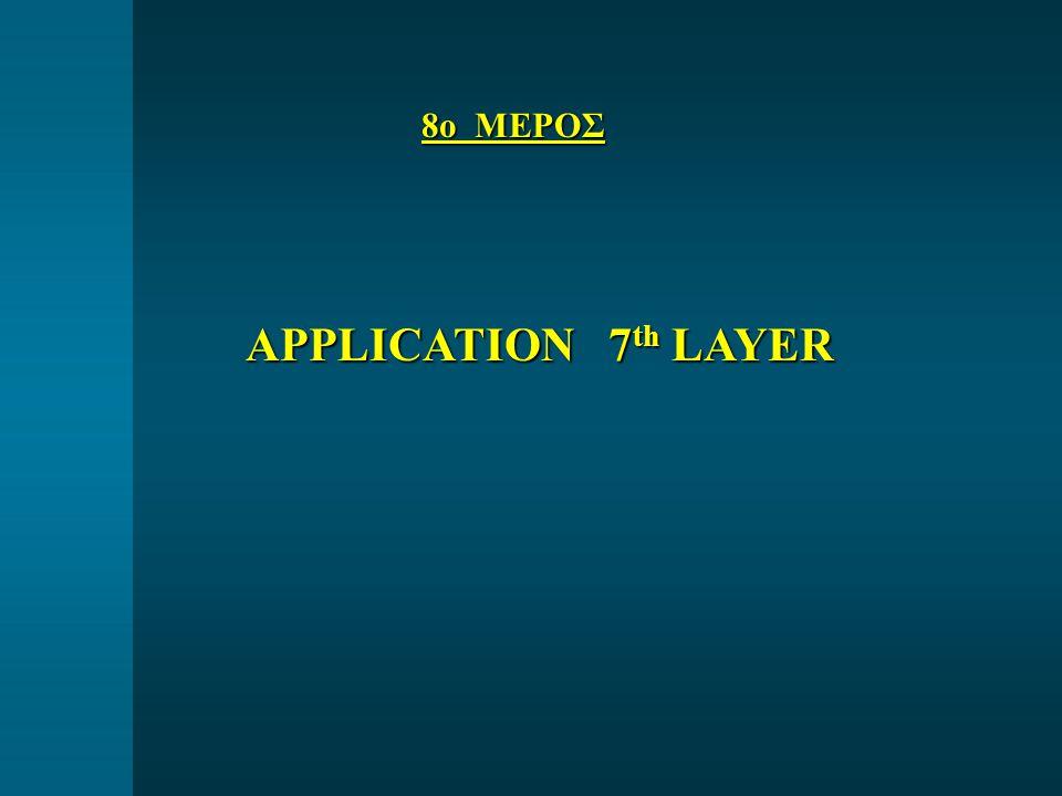 8ο ΜΕΡΟΣ APPLICATION 7 th LAYER