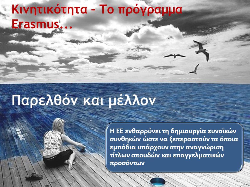 Κινητικότητα – Το πρόγραμμα Erasmus...