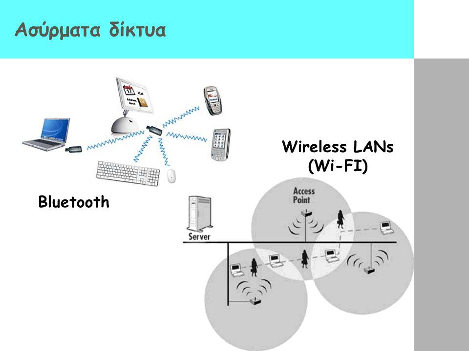 Ασύρματα δίκτυα Βluetooth Wireless LANs (Wi-FI)