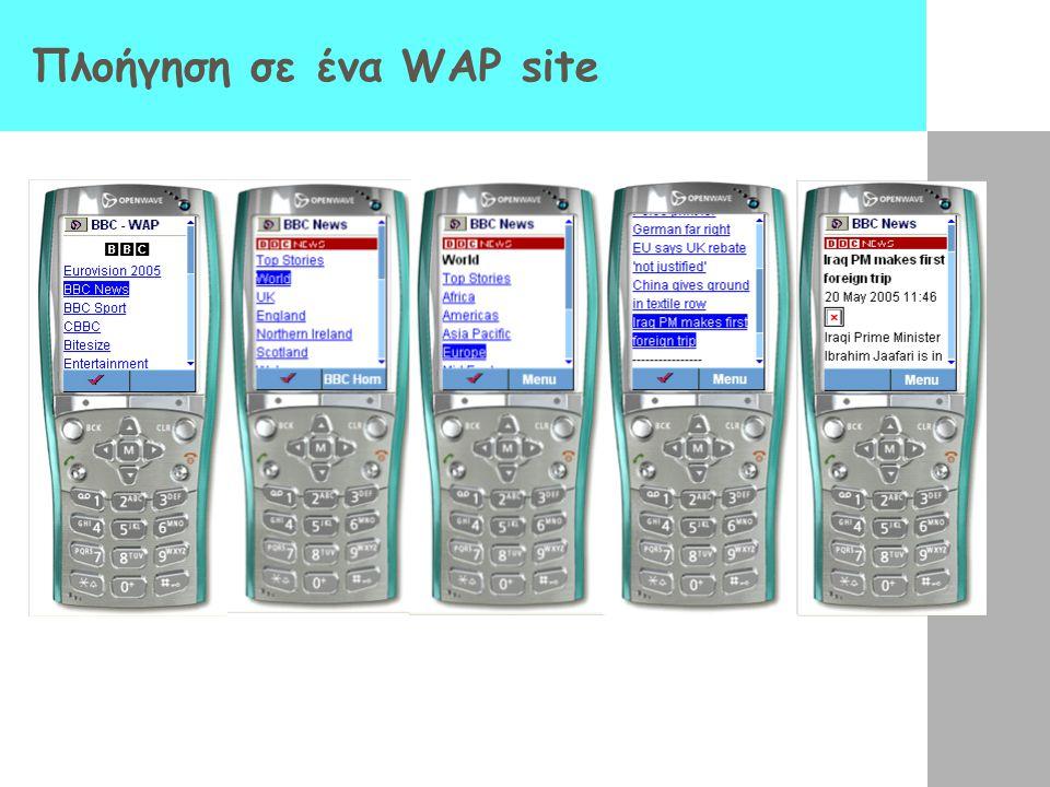 Πλοήγηση σε ένα WAP site