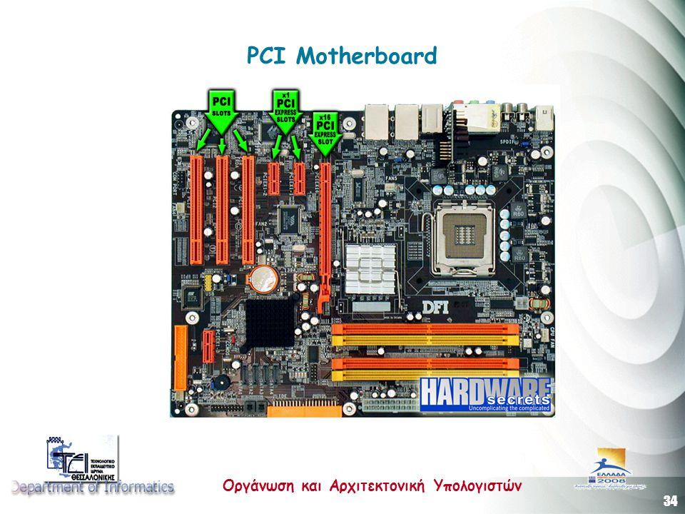 34 Οργάνωση και Αρχιτεκτονική Υπολογιστών PCI Motherboard