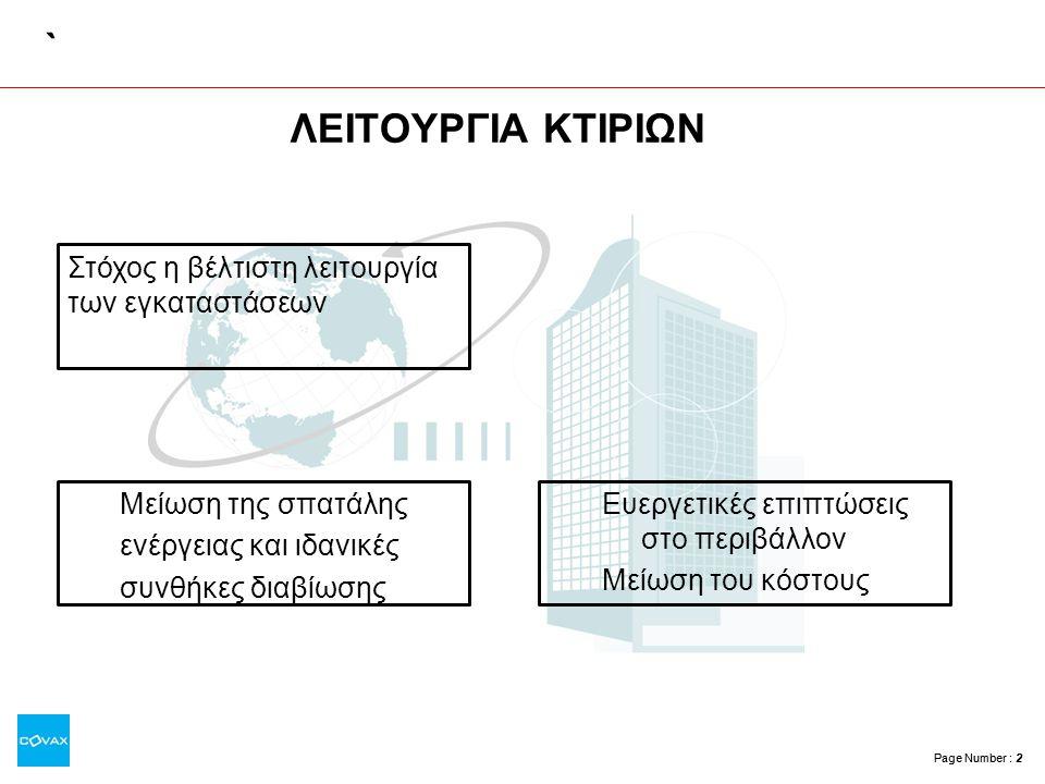 Page Number : 3 Τι είναι… •Συστήματα ελέγχου βασισμένα στην τεχνολογία των μικροεπεξεργαστών για έλεγχο κτιριακών Η/Μ εγκαταστάσεων.