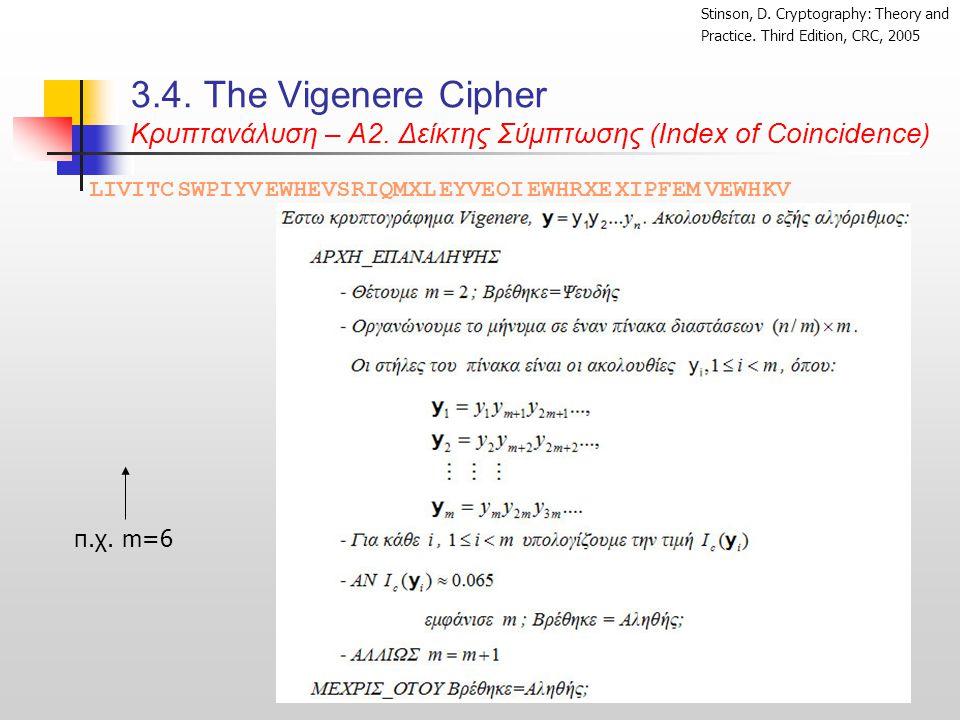 3.4.Τhe Vigenere Cipher Κρυπτανάλυση – Α2.