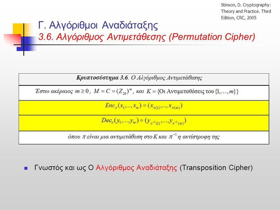 Γ.Αλγόριθμοι Αναδιάταξης 3.6.