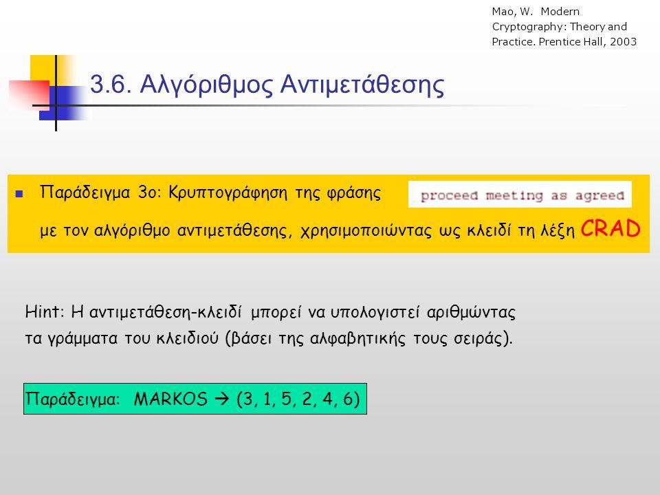 Hint: Η αντιμετάθεση-κλειδί μπορεί να υπολογιστεί αριθμώντας τα γράμματα του κλειδιού (βάσει της αλφαβητικής τους σειράς).