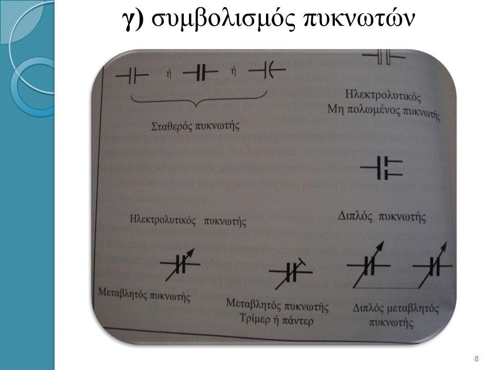 β) έλεγχος – επισκευές πυκνωτών Ο έλεγχος των πυκνωτών πραγματοποιείται με ένα ειδικό γι ΄ αυτό το σκοπό όργανο, που ονομάζεται γέφυρα μέτρησης των πυ