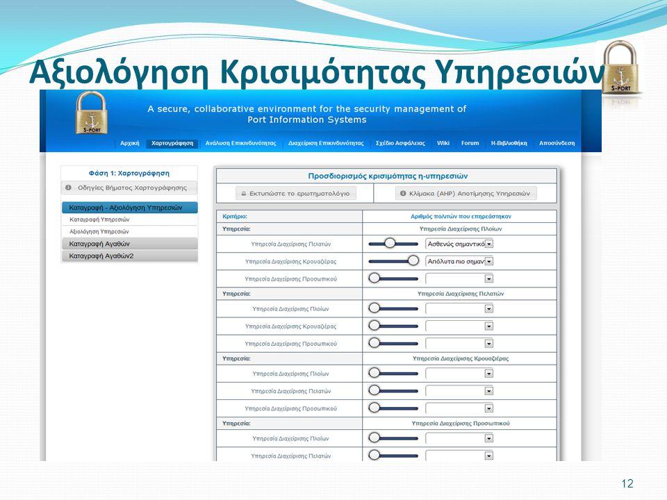 Αξιολόγηση Κρισιμότητας Υπηρεσιών 12