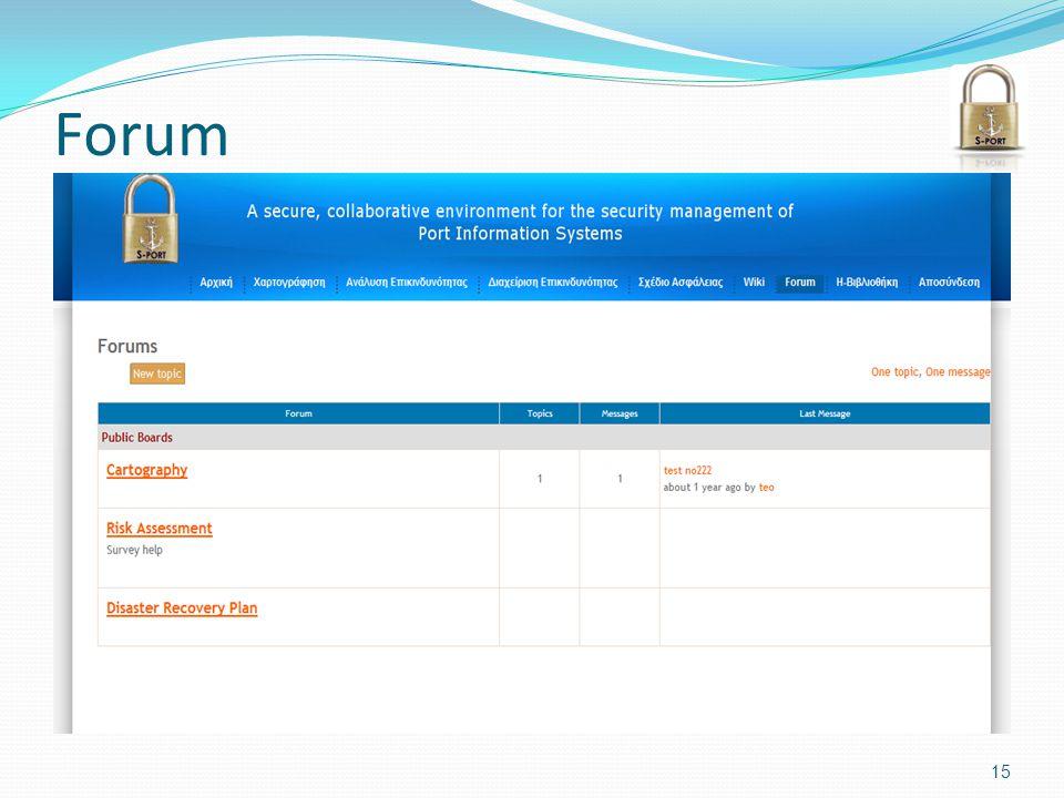 Forum 15