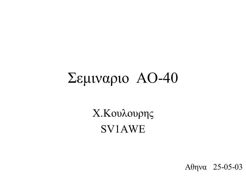Σεμιναριο ΑΟ-40 Χ.Κουλουρης SV1AWE Αθηνα 25-05-03