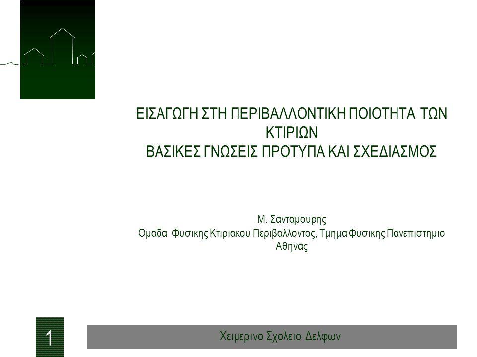 Προτεινομενο Προτυπο CEN/TC 156 WG 12 ΘΕΡΜΙΚΗ ΑΝΕΣΗ 22 Χειμερινο Σχολειο Δελφων Κτιρια με μηχανικα συστηματα θερμανσης και κλιματισμου