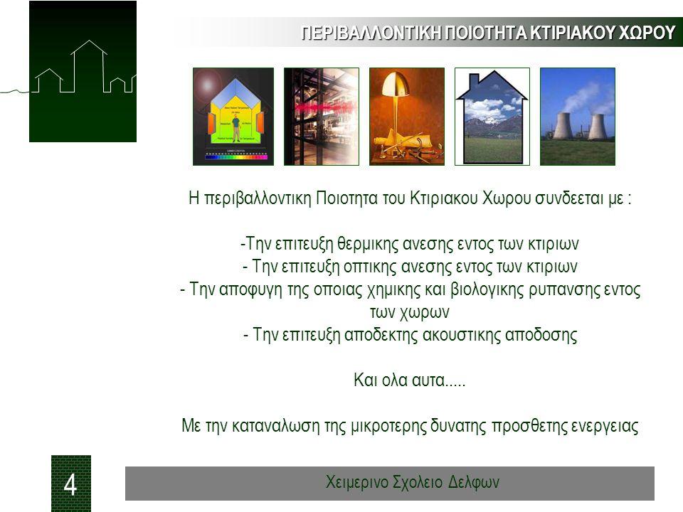 Ποιοτητα του αερα στις ελληνικες κατοικιες - 50 κτιρια, (2005) ΠΟΙΟΤΗΤΑ ΕΣΩΤΕΡΙΚΟΥ ΑΕΡΑ 35 Χειμερινο Σχολειο Δελφων A A A C C C