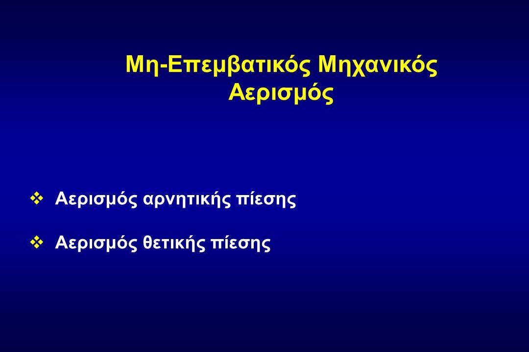 Μη-Eπεμβατικός Μηχανικός Αερισμός  Αερισμός αρνητικής πίεσης  Αερισμός θετικής πίεσης