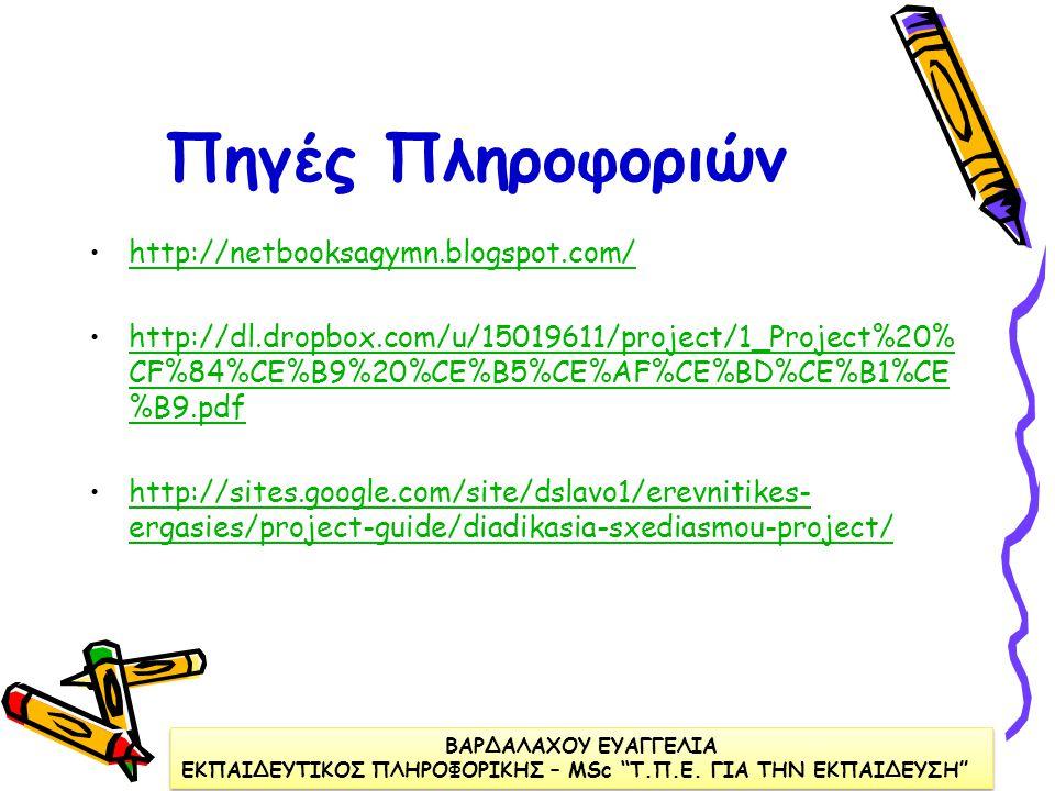 Ανάρτηση στο Διαδίκτυο των Ερευνητικών Εργασιών Οι ερευνητικές εργασίες αναρτώνται στην ιστοσελίδα του σχολείου με: •τα ονόματα όλων των συντελεστών,