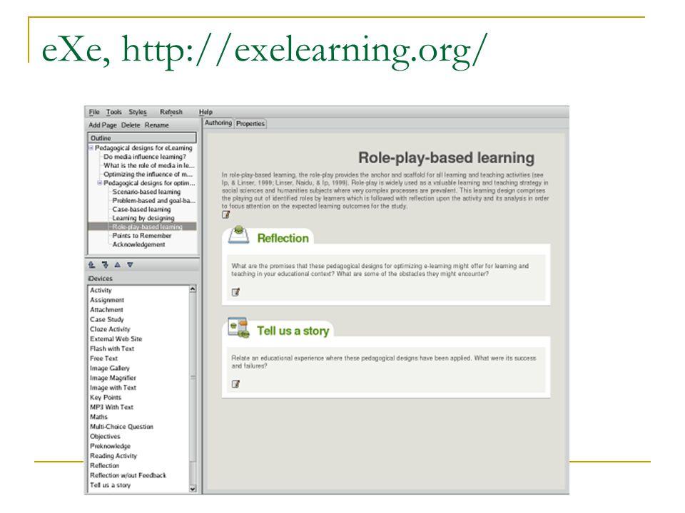 eXe, http://exelearning.org/